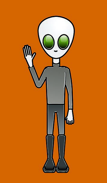 Alien Unfamiliar Man Space Interplanetary Dude Han