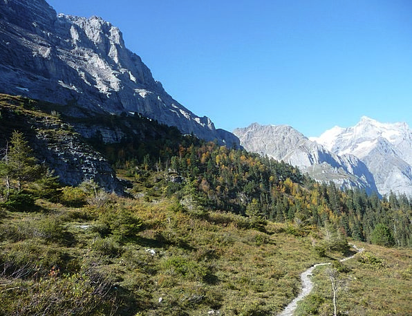 Eigertrail Autumn Fall Bernese Oberland Hiking Mou