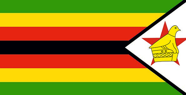 Zimbabwe Standard National Nationwide Flag Golden