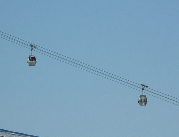 Cable Car Lift Boost Gondola Skiing Ski Lift Mount