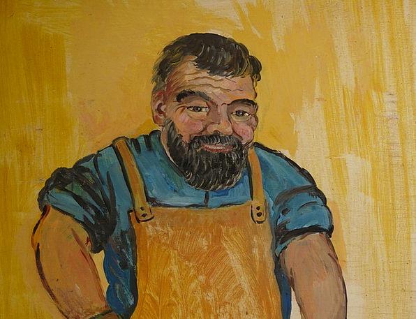 Man Gentleman Expression Drawing Sketch Face Metal