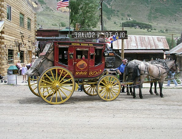 Silverton Stagecoach Carriage Stage Couch Wild Wes