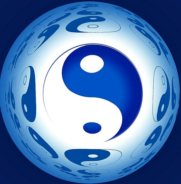 Ball Sphere Yang Yin Composition New Age Combinati