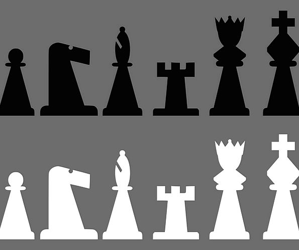 Chess Black Dark Meeples Free Vector Graphics Whit