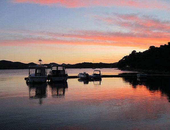 Port Harbor Twilight Croatia Evening