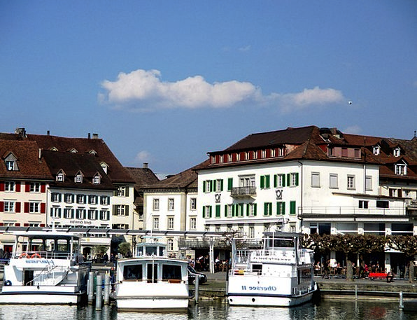Rapperswil Jona Boat Harbour Lake Zurich Old Town