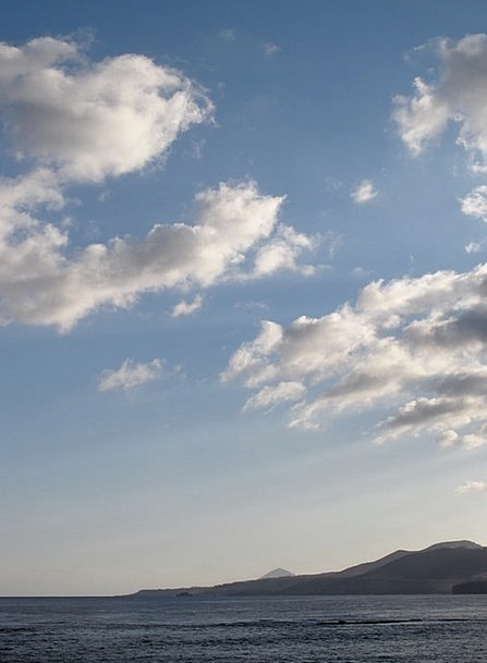 Beach Seashore Vacation Travel Blue Azure Sky Clou