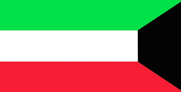 Kuwait Standard Symbol Sign Flag Country Republic