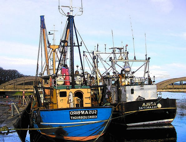 Trawlers Angling Boats Ships Fishing Water Aquatic