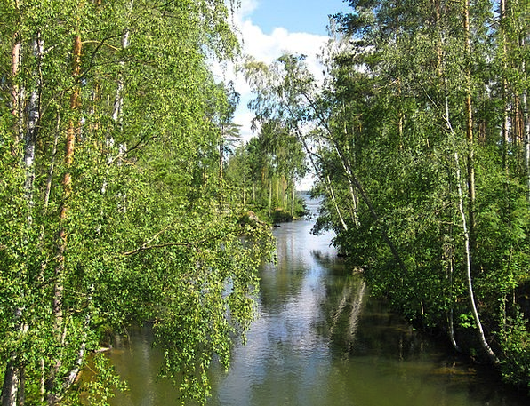 Finland Landscapes Watercourse Nature Lake Freshwa