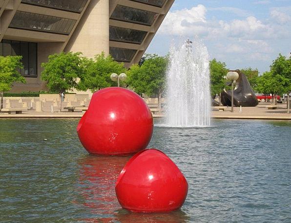 Dallas Buildings Architecture Fountain Cascade Cit
