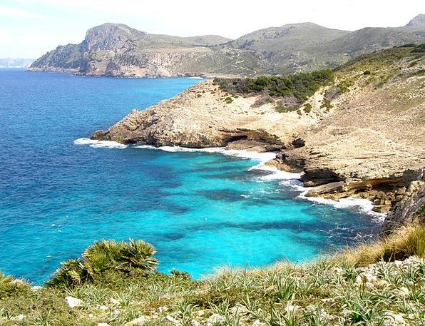Mallorca Shore Cala Estreta Coast Cap Ferrutx Hike