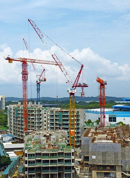 Construction Buildings Place Architecture Crane Ho