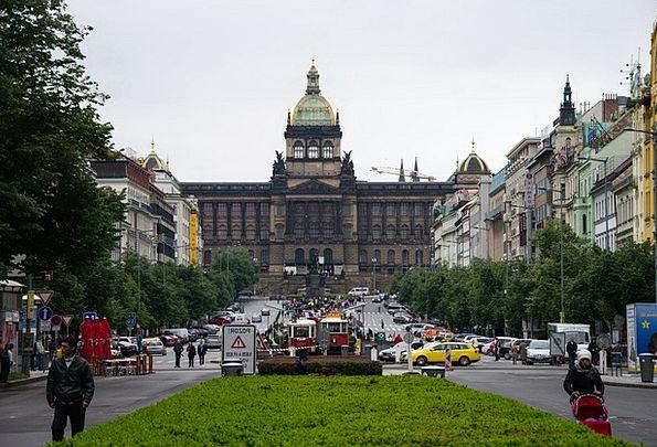 Prague Buildings Structure Architecture Wenceslas