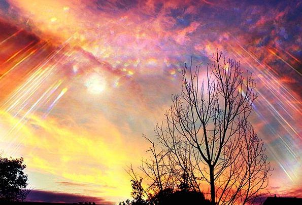 Sky Blue Heavenly Aurora Divine Light Bright Shine