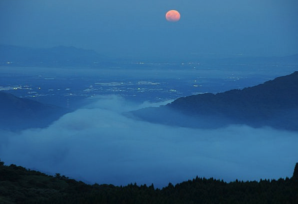 Aso Moon Romanticize Night View Night Nightly