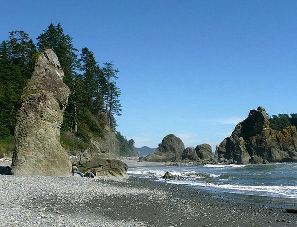 Ruby Beach Landscapes Nature Usa Washington Olympi