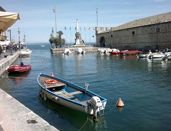 Lazise Boats Ships Garda Powerboat Motorboat Boat