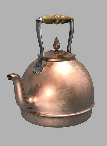 Kettle Pot Kitchen Kitchenette Copper Water Aquati