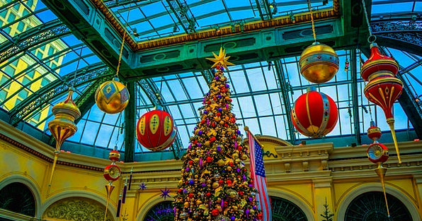 Bellagio Monuments Places Christmas Tree Las Vegas