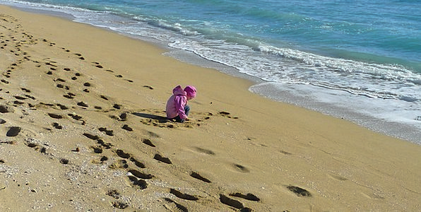 Sand Beach Youngster Beach Seashore Child Girl Hol
