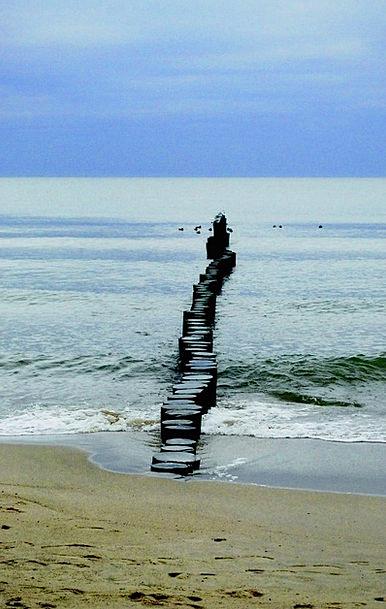Breakwater Mole Seashore Coastline The Baltic Sea