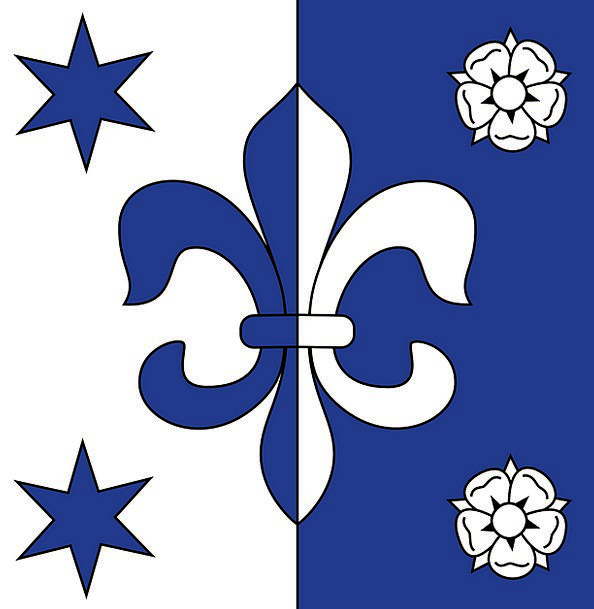 Fleur De Lis Heraldry Coat Or Arms Flag Standard F