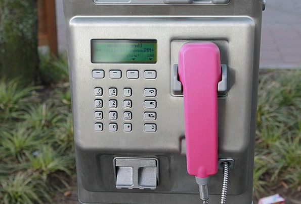 Phone Booth Communication Spectators Computer Phon