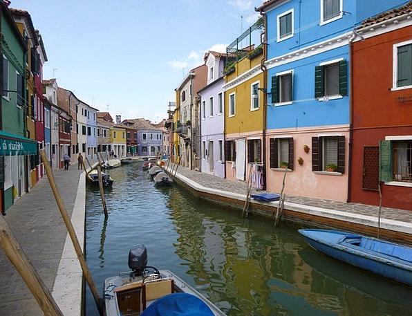 Venice Burano Island Burano Colorful Houses