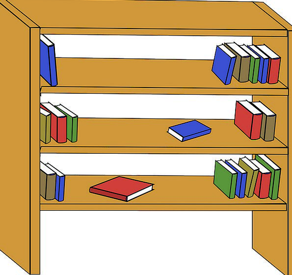 Bookshelf Shelf Wooden Timber Bookcase Knowledge L