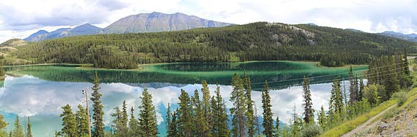 Emerald Lake Carcross Yukon Panoramic Image See Mi