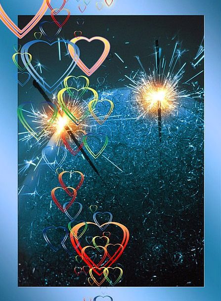 Sparkler Rocket Emotion Love Darling Heart Loyalty