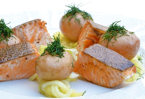 Salmon Drink Nourishment Food Pumpkin Food
