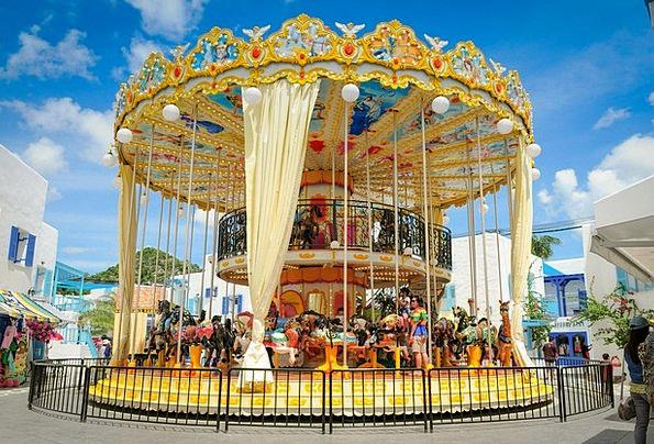 Carousel Merry-go-round Funfair Fun Amusing Amusem