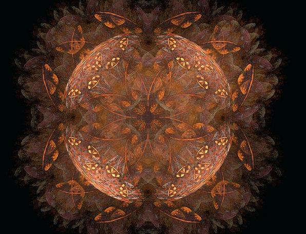 Fractal Chocolate Orange Carroty Brown Design Proj