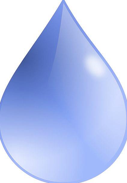 Drop Droplet Aquatic Blue Azure Water Abstract Non
