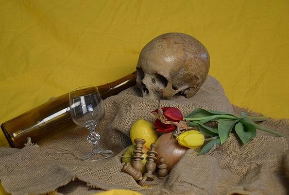 Skull Mind Plants Bottle Flask Flowers Glass Cut-g