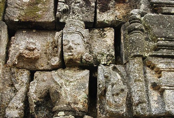 Budda Figurine Temple Statue Indonesian Pray Reque
