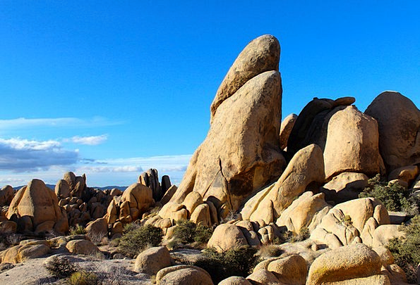 Joshua Tree National Park Landscapes Pillars Natur