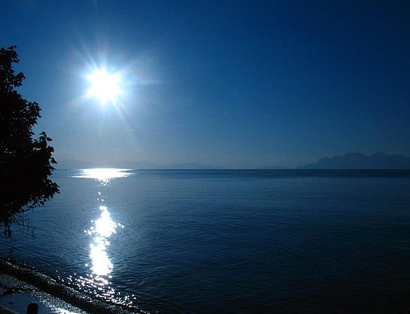 Blue Azure Landscapes Outstanding Nature Sun Shini