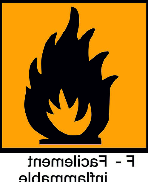 Signs Ciphers Flammable Warning Cautionary Inflamm