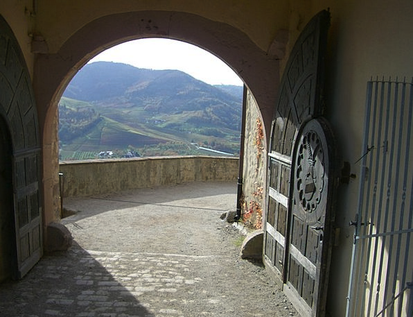 Castle Gate Arch Castle Staufenberg Archway Whethe