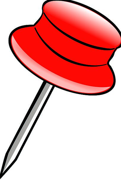 Pushpin Bloodshot Pin Jot Red Free Vector Graphics