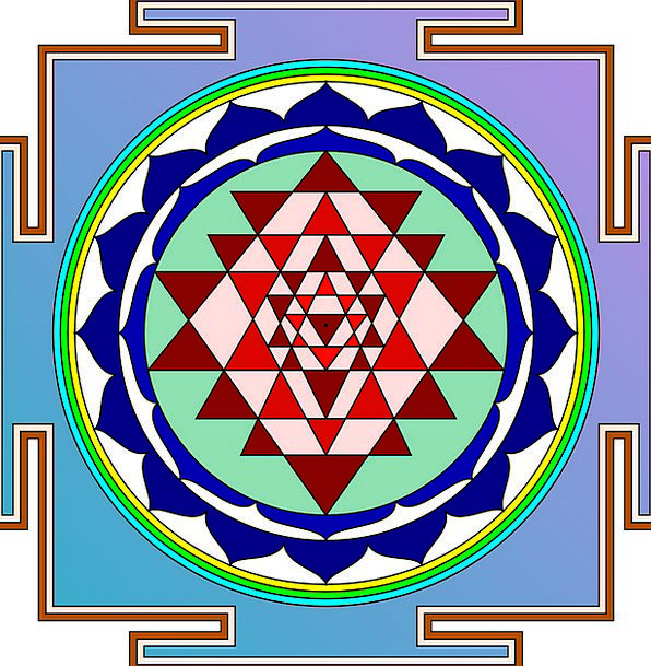 Sri Yantra Thing Devotion Piety Object Free Vector