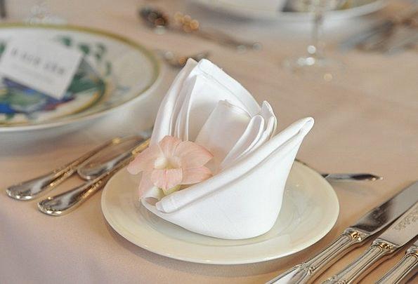 Napkin Bib Floret Table Set Flower Wedding Bridal