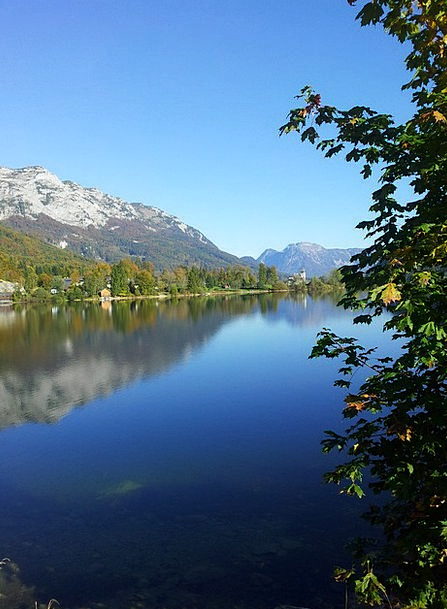 Grundlsee Austria Salzkammergut Alpine Mountainous