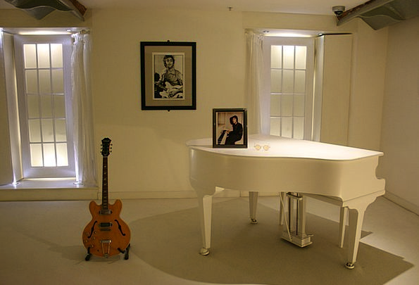 John Lennon Guitar White Piano Imagine Envisage Be
