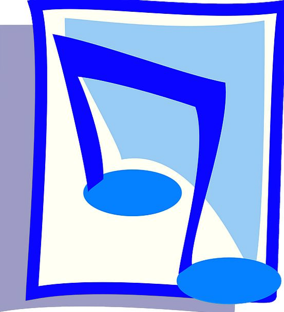 Music Melody Letter Blue Azure Note Free Vector Gr