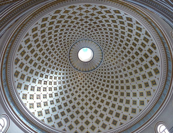 Dome Vault Mosta Domed Roof Malta Rotunda About Pa