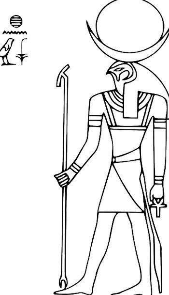 Horus Symbol Egypt Hieroglyph Deity Sun Pyramid Di